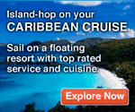 Island-hop on your Caribbean cruise. Sail on a floating resort with top rated service and cuisine.